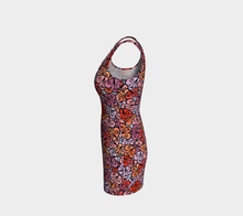 Load image into Gallery viewer, The Autumn Fitted Dress in Reds-Clash Patterns