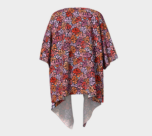 The Autumn Kimono in Reds-Clash Patterns