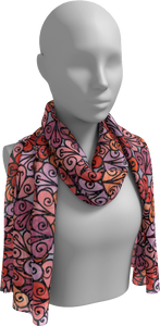 The Autumn Long Scarf in Reds