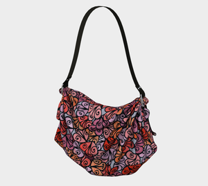 The Autumn Origami Bag in Reds-Clash Patterns