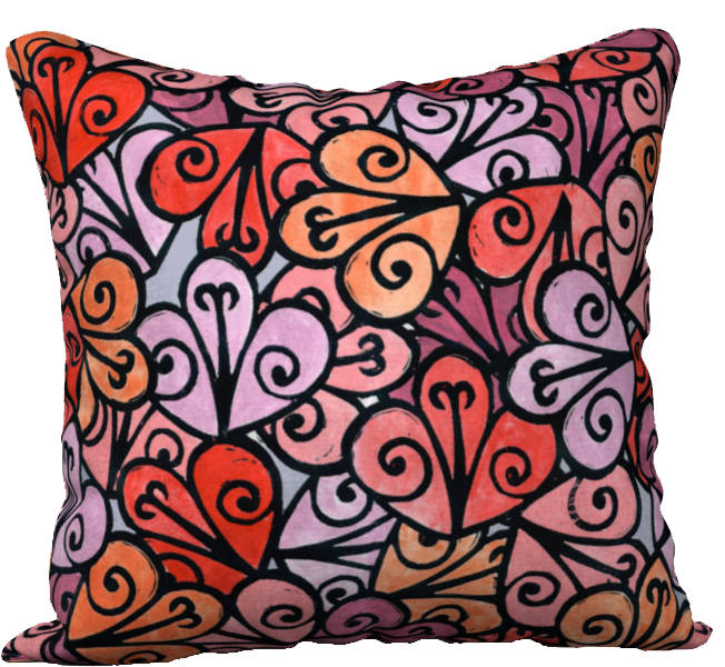 The Autumn Pillow in Reds-18