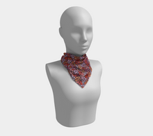 Load image into Gallery viewer, The Autumn Square Scarf in Reds