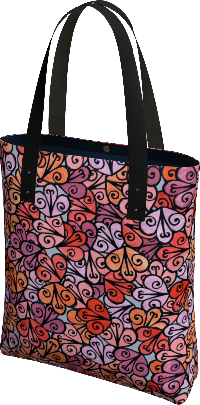 The Autumn Tote Bag in Reds