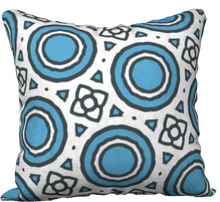 Load image into Gallery viewer, The Beth Reversible Pillow in Blue and White