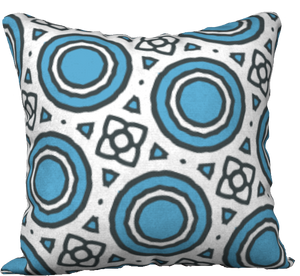 The Beth Reversible Pillow in Blue and White