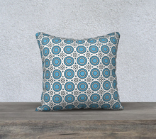 Load image into Gallery viewer, The Beth Reversible Pillow in Blue and White-Clash Patterns