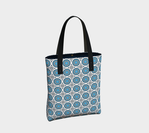 The Beth Tote Bag-Clash Patterns