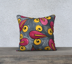 The Charlene Watercolour Pillow-Clash Patterns