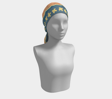 Load image into Gallery viewer, The Cora Long Scarf in Blue and Orange