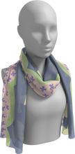 Load image into Gallery viewer, The Cora Long Scarf in Purple and Green