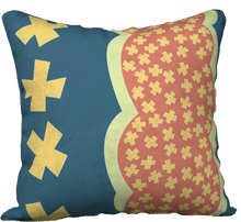 Load image into Gallery viewer, The Cora Pillow in Blue and Orange