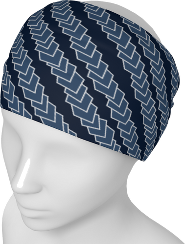 The Darlene Headband in Navy-Headband-Clash Patterns by Jennifer Akkermans