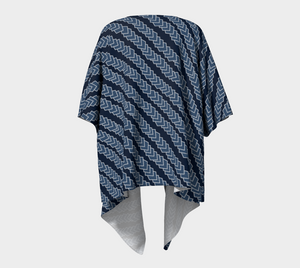 The Darlene Kimono in Navy-Clash Patterns