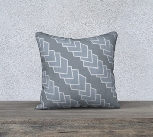 The Darlene Reversible Pillow in Grey-Clash Patterns
