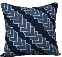 Load image into Gallery viewer, The Darlene Reversible Pillow in Navy