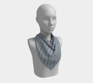 The Darlene Square Scarf in Grey