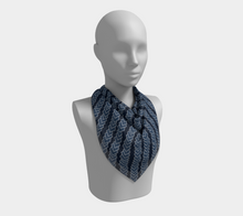 Load image into Gallery viewer, The Darlene Square Scarf in Navy