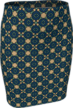Load image into Gallery viewer, The Davina Fitted Skirt in Navy and Green