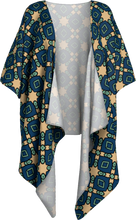 Load image into Gallery viewer, The Davina Kimono in Navy and Green