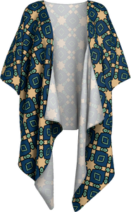 The Davina Kimono in Navy and Green