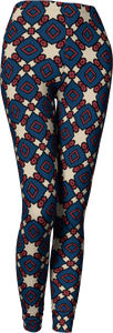 The Davina Leggings in Navy and Red