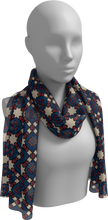 Load image into Gallery viewer, The Davina Long Scarf in Navy and Red