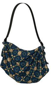 The Davina Origami Bag in Navy and Green