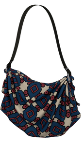 The Davina Origami Bag in Navy and Red