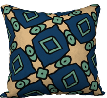 Load image into Gallery viewer, The Davina Reversible Pillow in Navy and Green
