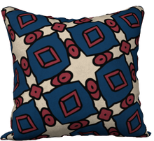 Load image into Gallery viewer, The Davina Reversible Pillow in Navy and Red