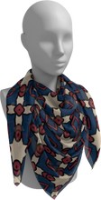Load image into Gallery viewer, The Davina Square Scarf in Navy and Red