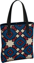 Load image into Gallery viewer, The Davina Tote Bag in Navy and Red