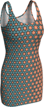 Load image into Gallery viewer, The Denise Fitted Dress in Coral and Teal
