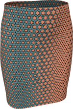 Load image into Gallery viewer, The Denise Fitted Skirt in Coral and Teal