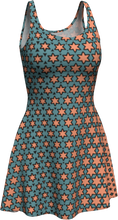 Load image into Gallery viewer, The Denise Flare Dress in Coral and Teal