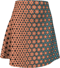 Load image into Gallery viewer, The Denise Flare Skirt in Coral and Teal