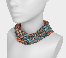 Load image into Gallery viewer, The Denise Headband in Coral and Teal
