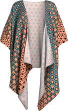 Load image into Gallery viewer, The Denise Kimono in Coral and Teal