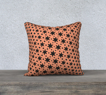 Load image into Gallery viewer, The Denise Reversible Pillow in Coral and Teal-Clash Patterns