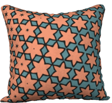 Load image into Gallery viewer, The Denise Reversible Pillow in Coral and Teal
