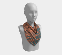 Load image into Gallery viewer, The Denise Square Scarf in Coral and Teal