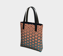 Load image into Gallery viewer, The Denise Tote Bag in Coral and Teal-Clash Patterns