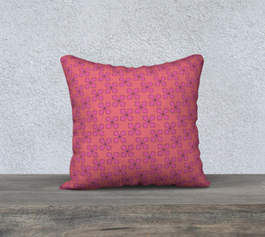 The Donna Reversible Pillow in Pink-Clash Patterns