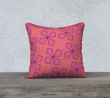 Load image into Gallery viewer, The Donna Reversible Pillow in Pink-Clash Patterns