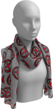 Load image into Gallery viewer, The Edith Long Scarf in Grey and Red