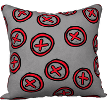 Load image into Gallery viewer, The Edith Pillow in Grey and Red