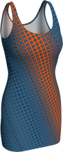 Load image into Gallery viewer, The Erin Fitted Dress in Blue and Orange
