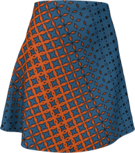 Load image into Gallery viewer, The Erin Flare Dress in Blue and Orange