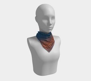 The Erin Square Scarf in Blue and Orange