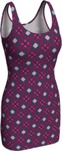 Load image into Gallery viewer, The Evangeline Fitted Dress in Raspberry